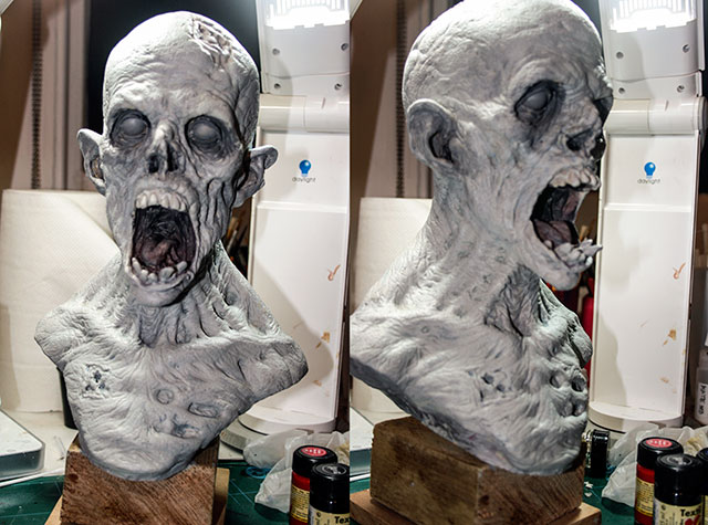 Zombie bust primed